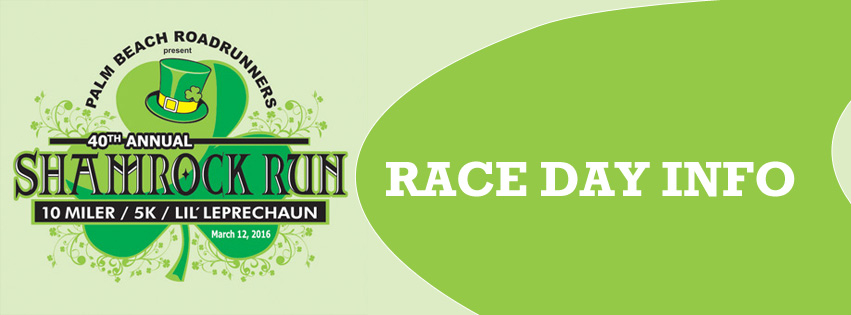 RACE DAY INFO – SHAMROCK RUN