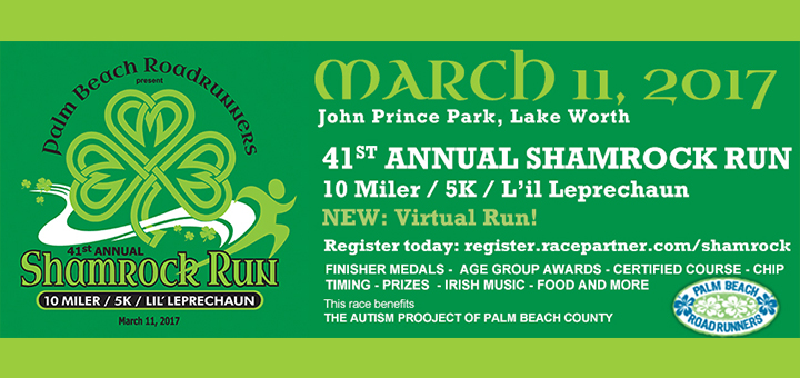 REGISTRATION OPEN SHAMROCK RUN 2017